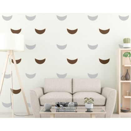 2 Color Cresent Wall Decal Pattern Wall Sticker Boho Wall Decor