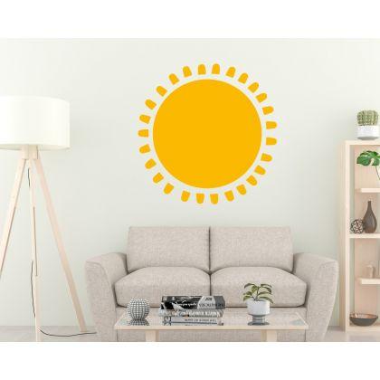 Boho Sun Wall Decal Scandinavian Nursery Room Decor