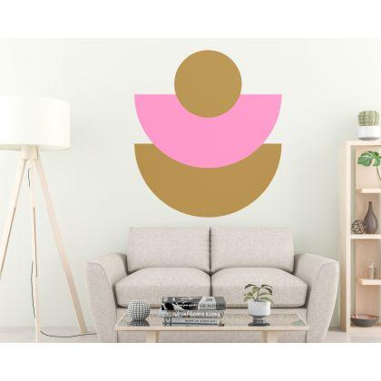 Geometric Wall Decor Half Circle with circle Wall Decal Abstract Wall Art