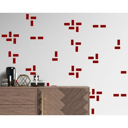 Set of 140 Small Lines Geometric Boho Wall Stickers