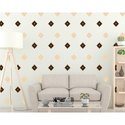 2 Colour Boho Geometric Shapes Wall Stickers Scandinavian Wall Decor