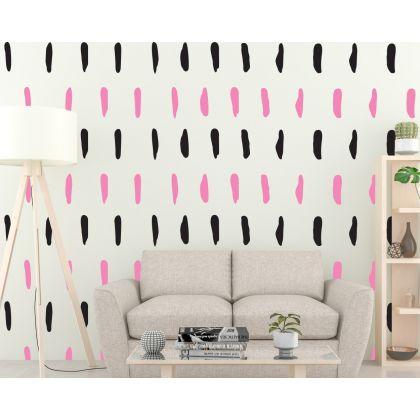 Set of 50 lines Geometric Wall Decor Pattern Wall Decal