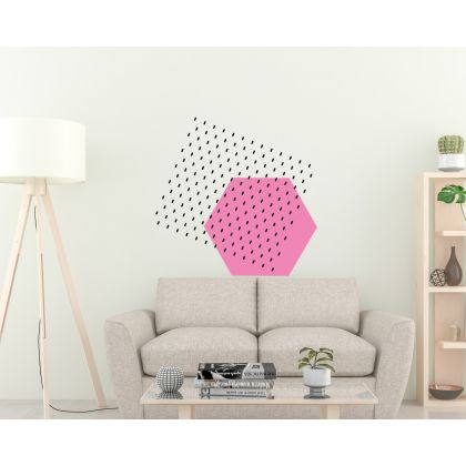 Pattern Wall Decals Long Polka Dots Triangle Wall Art Geometric Wall Art