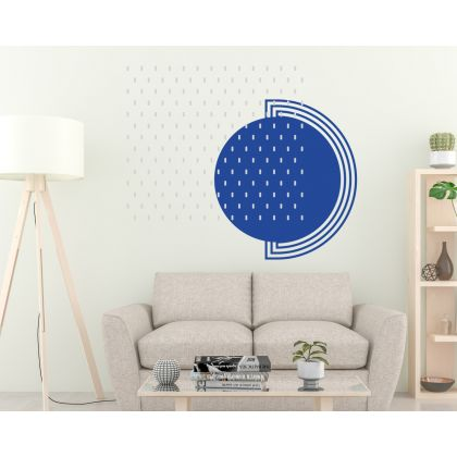 Long Polka Dots Geometric Pattern Wall Decals Circle Wall Art