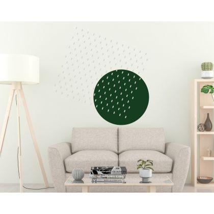 Pattern Wall Decals Long Polka Dots Circle Wall Art