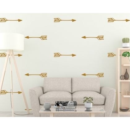 Set of 16 Arrows Geometric Pattern Wall Decals Home Decor
