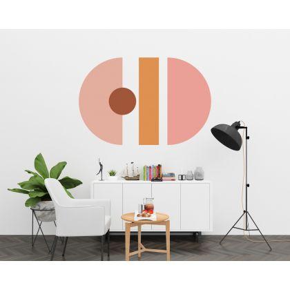 Half circles & lines Boho Shapes Geometric Wall Decor Abstract Wall Art