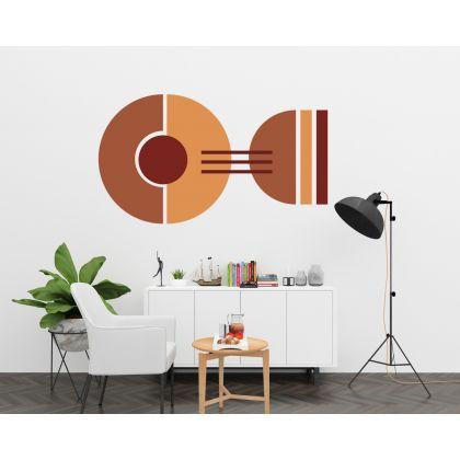 Half circles & Circle with lines Boho Shapes Geometric Wall Decor