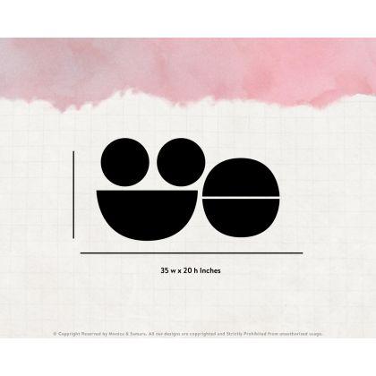 Circle & Half circle Boho Shapes Geometric Wall Decor Abstract Wall Art