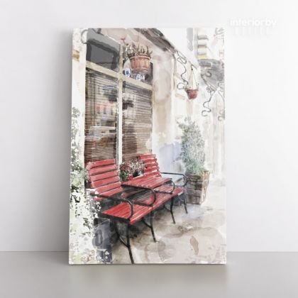 Watercolor Painting City Canvas with Frame Modern Art Print on Canvas Wall Hangings Decor Picture Print ation Living Dining Room