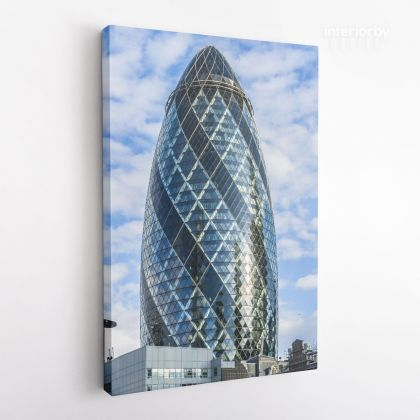 Portrait Great Britain London Swiss Re Tower Canvas with Frame / Roll Living Room Bedroom Wall Hangings Wall Artwork Mural Gift