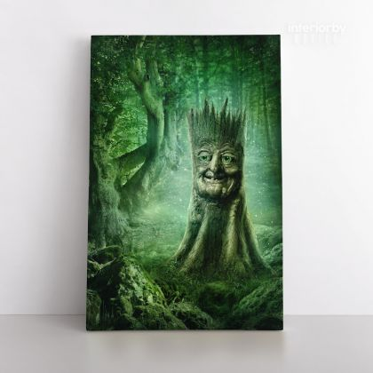 Mystic Fairy Tree of Life Enchanted Posters Print Canvas with Frame / Rolled Canvas Home Decor Wall Hangings Wall Art Mural Gift Living Room