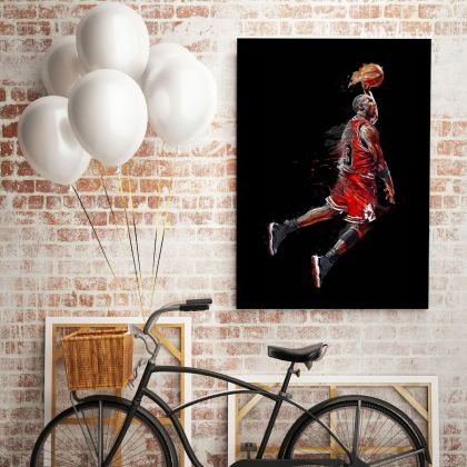 Michael Jordan Poster Basketball Canvas with Frame or Rolled Canvas Kids Gaming Zone Home Decor Wall Art