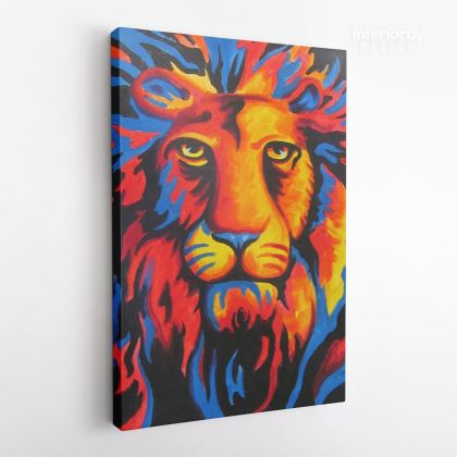 New Lion Art Painting Print Poster Canvas with Frame or Rolled Canvas Sip and Paint Photo Wall Artwork