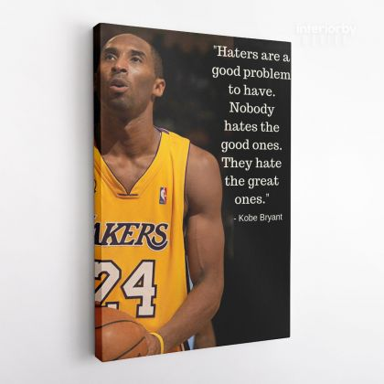 Kobe Bryant Inspirational Quote Photo Print Canvas Basketball Player Last Game Mamba Mentality