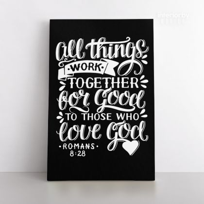 Love God Bible Verse Canvas Office Decor Scripture Art Decals Canvas