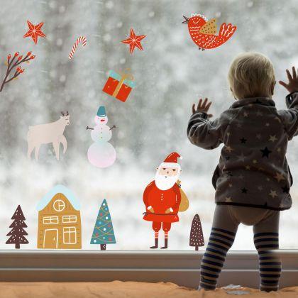 Christmas Decor Window Stickers, Christmas Window Decal for Christmas Decoration