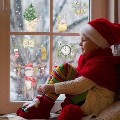 Christmas Decor Window Stickers, Christmas Window Decal decor for Christmas Home Decoration