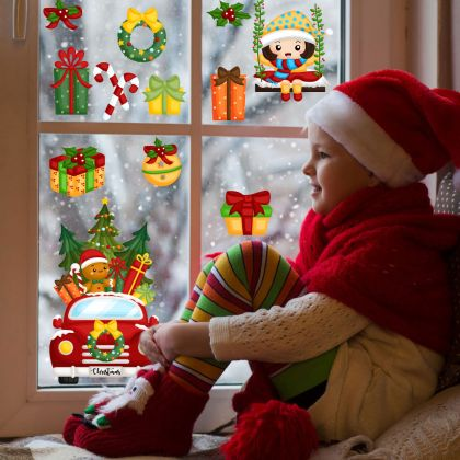 Christmas Decor Window Stickers, Christmas Window Decal for Christmas Home Decor