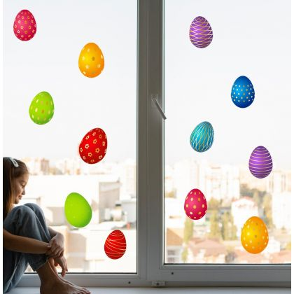 Easter Egg Window Stickers for Window Decoration