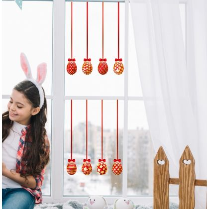 Red Easter Egg Window Stickers for Window Decoration
