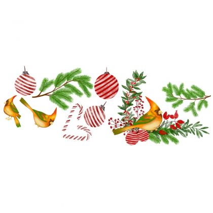 Christmas Decor Window Stickers, Christmas Tree Window Decal for Christmas decoration
