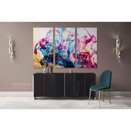 Modern Art Landscape Acrylic Colors And Ink In Water Canvas with Frame Print Poster Living Dining Modern Wall Hangings Mural Gift