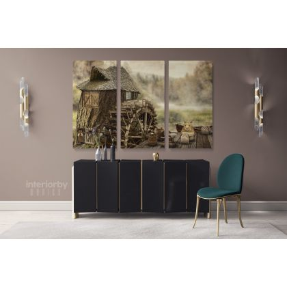 Wood Fairies Tub Mill Fictional Fantasy Canvas with Frame /Roll Modern Print Poster Living Room Abstract Mural Gift Wall Hangings