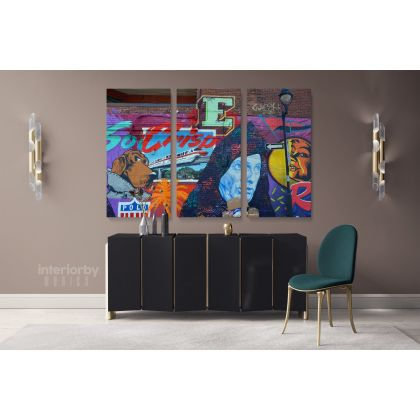 Contemporary Abstract Street Digital Art Framed Premium Gallery Wrap Grafitti style Canvas/Roll Modern Print Poster Mural Gift Wall Hangings