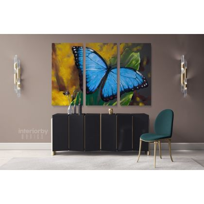 Beautiful Butterfly Original Pastel Poster Artwork Canvas Frame / Roll Modern Print Living Room Abstract Mural Gift Wall Hangings