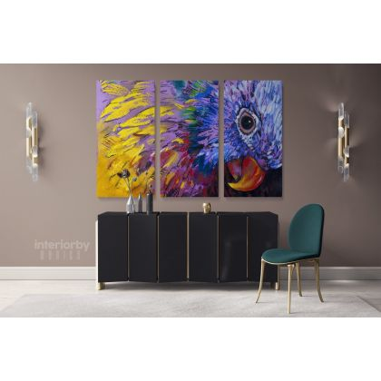 Beautiful Parrot Bird Original Pastel Poster Artwork Canvas Frame/Roll Modern Print Living Room Abstract Mural Gift Wall Hangings