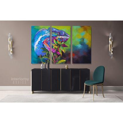Beautiful Toads Frog Original Pastel Poster Artwork Canvas Frame /Roll Modern Print Living Room Abstract Mural Gift Wall Hangings