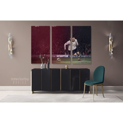 Wayne Rooney Poster Soccer Player Sports Canvas with Frame/Rolled Canvas Kids Gaming Zone Wall Art Mural Hanging Gift Gamer Print