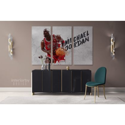 Basketball Player Michael Jordan Canvas with Framed/Rolled Canvas Kids Gaming Zone Home Decor Wall Art Mural Hangings Gift Gamer Print Poster