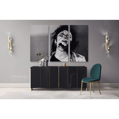 King of Pop Michael Jackson Quote Canvas For Wall Art Print Poster Framed Canvas Home Decor