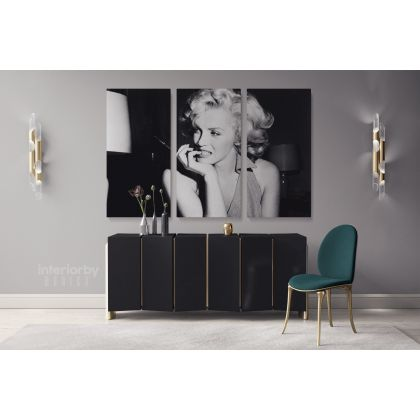 Marilyn Monroe Canvas American Model Wall Artwork Hangings Marilyn Monroe Actress Pop Sexy in Bed Nude Full Body Young Picture Costume