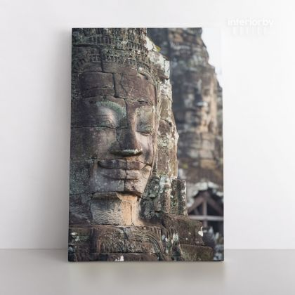 Buddha Carving Vintage Wall Art Canvas with Frame Poster Print ation Living Room Dining Modern Wall Decor Hangings Mural Art Gift
