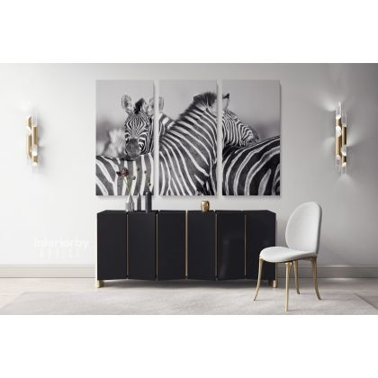 Zebra Large Black and White Photography Canvas Print Poster Love Wall Art Housewarming Gift Wild Animals Photo Wall Mural Hanging