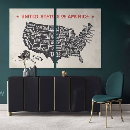 United States of America Canvas Large Canvas Gift Office Living Room Home Decor For Wall Hangings