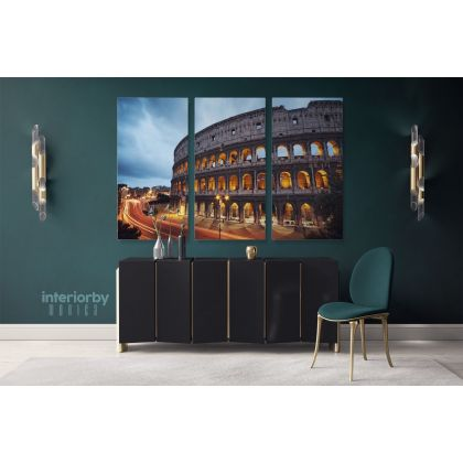 Rome Colosseum Canvas Wall Art Decor Print Skyline Cityscape Ready to Hang Gift Canvas with Frame Home Decor Bedroom Poster Print Mural Gift
