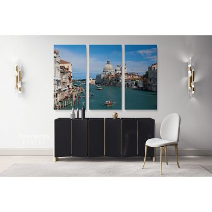 Venice Cityscape with Sky and Water Wall Art Canvas with Frame Wall Hangings Print Poster Home Decoration Living Room Bedroom Mural Gift