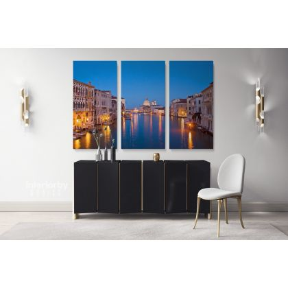 Venice City of Romance Cityscape with Blue Sea Canvas with Frame Wall Art Hangings Print Poster Home Decor Living Room Bedroom Mural Gift