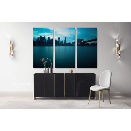 Empire State Building Skyscraper in New York City Landscape Canvas with Frame Wall Hangings Print Home Decor Living Room Bedroom Mural Gift