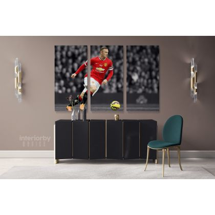 Wayne Rooney Soccer Player Sports Canvas with Framed/Rolled Canvas Kids Gaming Zone Home Decor Wall Art Mural Hanging Gift Gamer Print Poster