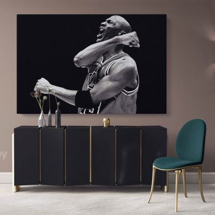 Michael Jordan Poster Basketball Canvas with Frame/Rolled Canvas Kids Gaming Zone Home Decor Wall Art Mural Hangings Gift Gamer art Print Poster
