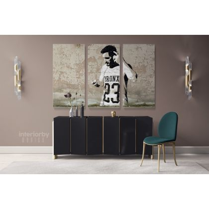Banksy Graffiti Street Arts Urban Modern Art Print Canvas with Frame / Roll Modern Poster Abstract Mural Gift Wall Hangings ation