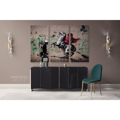 Modern Art Banksy Graffiti Street Arts Urban Print Canvas with Frame / Roll Modern Poster Abstract Mural Gift Wall Hangings ation
