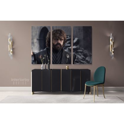 Tyrion Lannister Game of Thrones Movie Art Canvas with Frame / Rolled Gaming Zone Home Decor Wall Art Mural Hangings Gift Gamer Print Poster