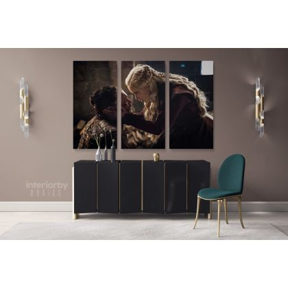 Game of Thrones Emilia Clarke Tyrion Lannister Movie Art Canvas with Framed / Rolled Home Decor Wall Art Mural Hangings Gift Print Poster