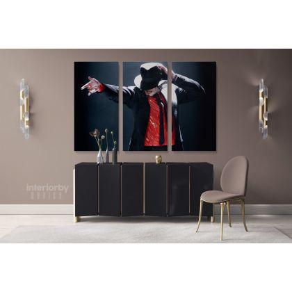 Pop Singer Michael Jackson Canvas Mj Dance Personalised Moves Print Poster Framed Canvas